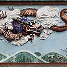 Dragons ceramic art at Foshan Ancestor Temple in China art photo print by ArtNudePhotos