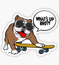 Cool english bulldog on board Sticker