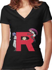 Team Rocket - Pokémon Women's Fitted V-Neck T-Shirt