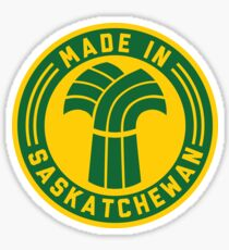 Made in Saskatchewan Logo (Green & Gold) Sticker