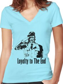 Metal gear solid 3 Women's Fitted V-Neck T-Shirt