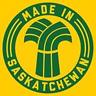 Made in Saskatchewan Logo (Green & Gold) by madeinsask