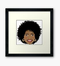Beautiful Afro woman Framed Print