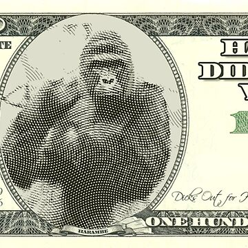 Harambe Dollar Bill by DigitalCleo
