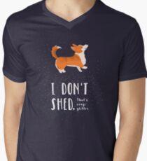 Corgi Glitter (Pembroke Welsh Corgi) Men's V-Neck T-Shirt