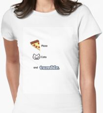 Pizza, Cats, And Tumblr Women's Fitted T-Shirt