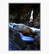 Painted Boulder, Livermore Falls, Plymouth, NH Photographic Print