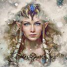 Epic Princess Zelda Painting Portrait by barrettbiggers