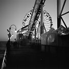Santa Monica Pier, Evening by Matthew Walters