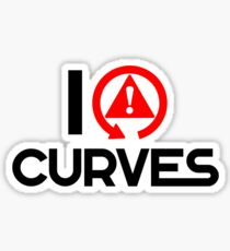 I love curves (5) Sticker