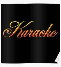 Vintage Colorful Karaoke Poster