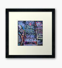 Wordy Framed Print
