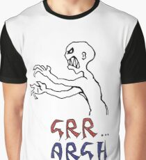 grr...argh with colour Graphic T-Shirt