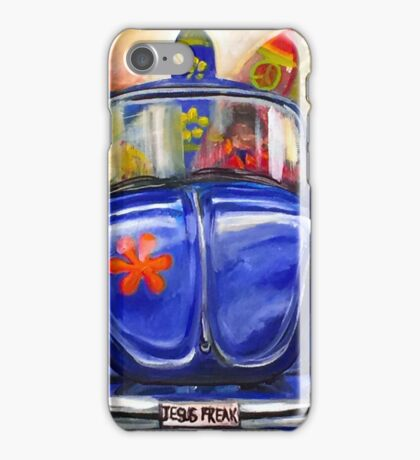 Travel Adventures of a car named Blue iPhone Case/Skin