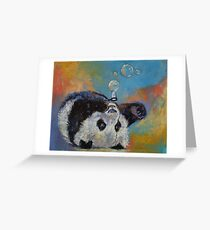 Blowing Bubbles Greeting Card