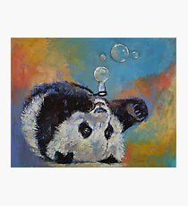 Blowing Bubbles Photographic Print