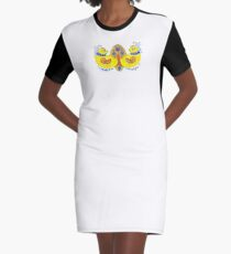 Decorative Trident Graphic T-Shirt Dress
