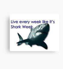 30 Rock - Shark Week Canvas Print