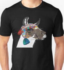 Sketch of Alpaca smiling Unisex T-Shirt