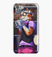 Cat in the stacks iPhone Case/Skin