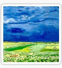 Wheatfield under Thunderclouds Sticker