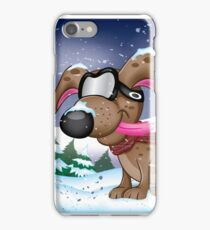 Snow Pup With Oakley Glasses iPhone Case/Skin
