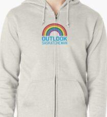 Outlook Rainbow Zipped Hoodie