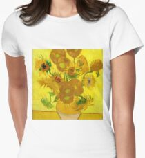Sunflowers, Vincent van Gogh Womens Fitted T-Shirt