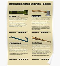 Improvised Zombie Weapons - A Guide Poster