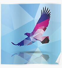Geometric polygonal eagle, pattern design Poster