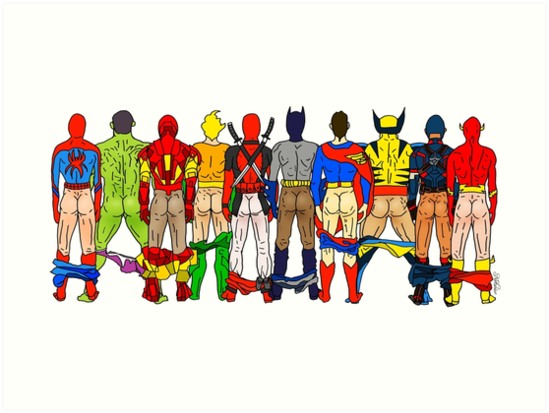 Superhero Butts LV by Notsniw Art