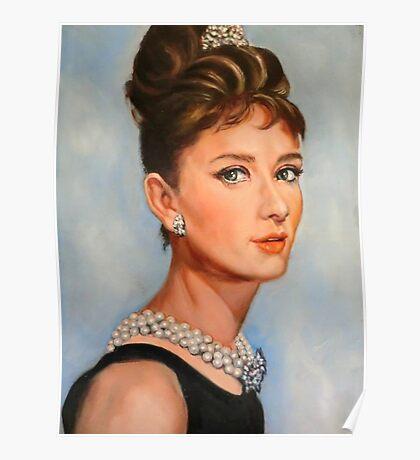 portrait of Audrey Hepburn Poster