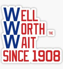 Cubs World Series Cubbies 1908 Curse Sticker