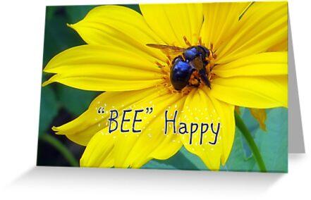 BEE Happy by AuntDot