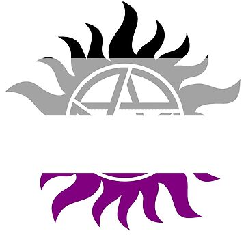 Supernatural Anti-Possession Asexual Flag by geekoutgalaxy