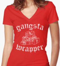 Gangsta Wrapper Women's Fitted V-Neck T-Shirt