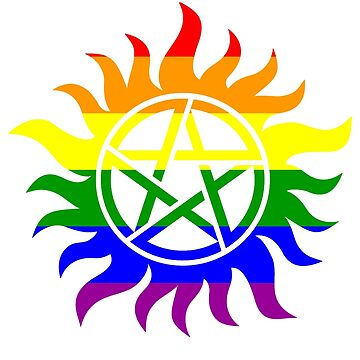 Supernatural Anti-Possession Gay Flag by geekoutgalaxy