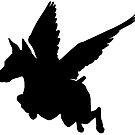 Winged Dobie by stellarmule