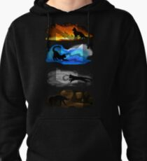 Warrior Cats: Four Elements, Four Clans Pullover Hoodie