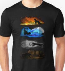 Warrior Cats: Four Elements, Four Clans Slim Fit T-Shirt