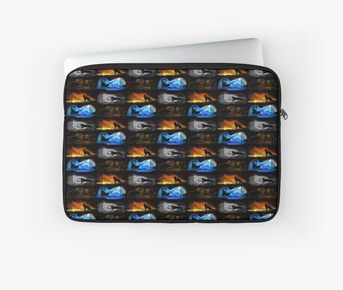"""""""Warrior Cats: Four Elements, Four Clans"""" Laptop Sleeves"""
