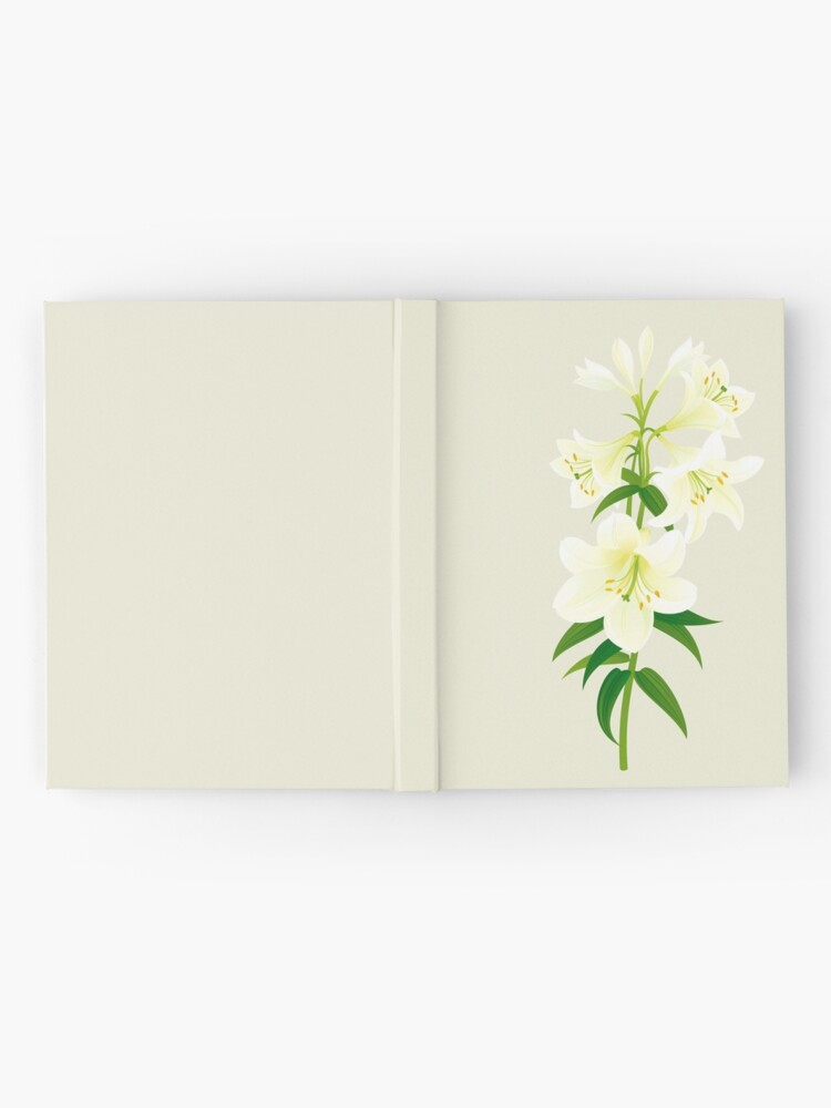 Alternate view of White Lily Hardcover Journal