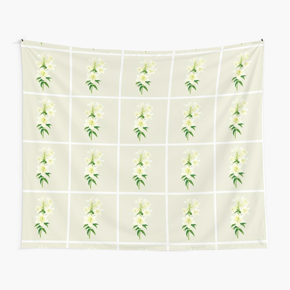 White Lily Wall Tapestry