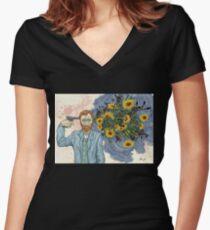 Vinnie Van  Women's Fitted V-Neck T-Shirt