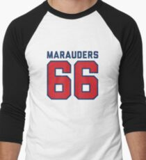 Marauders 66 Grey Jersey Men's Baseball ¾ T-Shirt