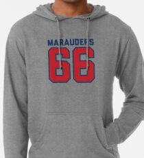 Marauders 66 Grey Jersey Lightweight Hoodie