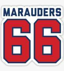 Marauders 66 Grey Jersey Sticker