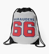 Marauders 66 Grey Jersey Drawstring Bag