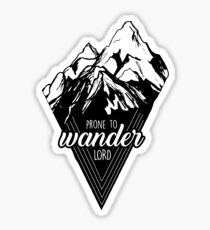 Prone to Wander, Lord Mountains Sticker