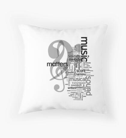 Music Matters Throw Pillow